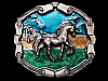 LA23120 VINTAGE 1976 ***ARABIAN HORSE*** IN THE MIDDLE EAST BELT BUCKLE