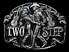 1994 ***TWO STEP*** (COWBOY & COWGIRL DANCING) BELT BUCKLE