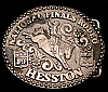 LA10159 VINTAGE 1984 ***NATIONAL FINALS RODEO*** NFR HESSTON YOUTH BELT BUCKLE