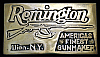 LB02127 VINTAGE 1970s **REMINGTON** AMERICA'S FINEST GUN FIREARMS BUCKLE