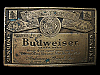 LA27111 VINTAGE 1970s ***BUDWEISER GENUINE BEER*** CAN LABEL BELT BUCKLE