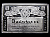 LA27155 VINTAGE 1970s **GENUINE BUDWEISER LAGER BEER** 12 FL. OZ. LABEL BUCKLE
