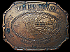 LA27165 VINTAGE 1970s ***SOUTHERN COMFORT*** UNDER YOUR BELT BOOZE BELT BUCKLE
