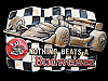 LA27170 VINTAGE 1992 **NOTHING BEATS A BUDWEISER** (FORMULA RACING) BEER BUCKLE