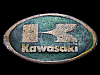 VINTAGE 1970s ***KAWASAKI*** MOTORCYCLES OVAL-SHAPED BELT BUCKLE