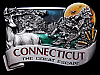 **NOS** VINTAGE 1984 ***CONNECTICUT*** THE GREAT ESCAPE BUCKLE