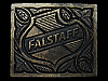 LB05105 VINTAGE 1975 ****FALSTAFF BREWING COMPANY**** BEER BELT BUCKLE