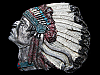 LB13167 VERY COOL VINTAGE 1993 CUT-OUT ***INDIAN CHIEF*** W/ HEADDRESS BUCKLE