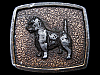 LB15109 VINTAGE 1975 ***SCOTTISH TERRIER*** BREED OF DOG BELT BUCKLE