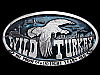 LB21146 AWESOME VINTAGE 1974 WILD TURKEY KENTUCKY STRAIGHT BOURBON BOOZE BUCKLE