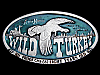 LB21147 COOL VINTAGE 1974 **WILD TURKEY** KENTUCKY STRAIGHT BOURBON BOOZE BUCKLE
