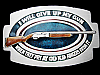 LB27128 VINTAGE 1979 **I WILL GIVE UP MY GUN WHEN THEY PRY...** GUN BELT BUCKLE