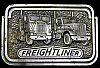 LB28134 GREAT VINTAGE 1980 **FREIGHTLINER TRUCKS** CAB OVER & LONGNOSE BUCKLE