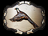 VINTAGE 1970s WESTERN STYLE *FLYING PHEASANT* BIRD BELT BUCKLE
