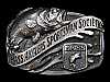 LC01139 VINTAGE 1970s BASS ANGLERS SPORTSMAN SOCIETY B.A.S.S. FISHING BUCKLE