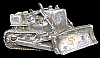 LC04123 VINTAGE 1978 VERY HEAVY WEIGHT CUT-OUT **BULLDOZER** AGED PEWTER BUCKLE