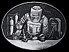 GREAT VINTAGE 1970s WELDER AND HIS TOOLS WELDING BELT BUCKLE