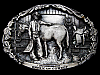 VINTAGE 1982 *AMERICAN COWBOY COMMEMORATIVE* BELT BUCKLE