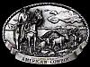 VINTAGE 1984 *AMERICAN COWBOY COMMEMORATIVE* BELT BUCKLE