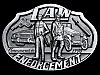 LC07135 VINTAGE 1990 ***LAW ENFORCEMENT COMMEMORATIV***E POLICE BELT BUCKLE