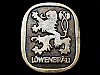LC11143 GREAT VINTAGE 1976 **LOWENBRAU** BRAND BEER BELT BUCKLE!