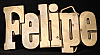 LC14115 *NOS* VINTAGE 1970s/80s CUT-OUT NAME ***FELIPE*** SOLID BRASS BUCKLE