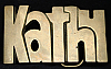 LC14121 *NOS* VINTAGE 1970s/80s CUT-OUT NAME ***KATHY*** SOLID BRASS BUCKLE