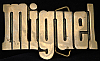 LC14127 *NOS* VINTAGE 1970s/80s CUT-OUT NAME ***MIGUEL*** SOLID BRASS BUCKLE