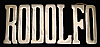 LC14139 *NOS* VINTAGE 1970s/80s CUT-OUT NAME ***RODOLFO*** SOLID BRASS BUCKLE