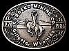 LC17138 VINTAGE 1986 ***CORDERO MINING CO*** WYOMING SOLID BRASS MINING BUCKLE