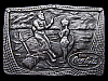 LC23168 VINTAGE 1976 ***COCA-COLA*** (FISHERMAN ON BEACH) SODA BELT BUCKLE
