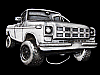LC25146 REALLY COOL VINTAGE 1978 CUT-OUT ***4X4 PICKUP*** TRUCK BELT BUCKLE