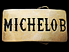 LC29118 COOL VINTAGE 1980 ***MICHELOB*** SOLID BRASS BEER BELT BUCKLE