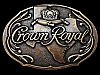 LC29144 NICE VINTAGE 1980s ***CROWN ROYAL - TEXAS*** BOOZE BELT BUCKLE