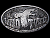 LC29166 VINTAGE 1974 **WILD TURKEY 101 PROOF EIGHT YEARS OLD** BOOZE BELT BUCKLE