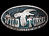 LC29167 COOL VINTAGE 1974 *WILD TURKEY 101 PROOF EIGHT YEARS OLD* BOOZE BUCKLE