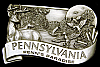*NOS* GREAT 1984 VINTAGE **PENNSYLVANIA - PENN'S PARADISE** NATURE SCENE BUCKLE