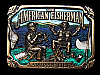 LF05135 VINTAGE 1986 **THE AMERICAN FISHERMAN SWAPPIN' LIES** FISHING BUCKLE
