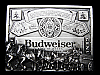 LF07166 VINTAGE 1970s **BUDWEISER CLYDESDALES** KING OF BEERS BEER BELT BUCKLE