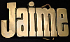 LF20102 *NOS* VINTAGE 1970s/80s CUT-OUT NAME ***JAIME*** SOLID BRASS BUCKLE