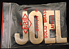 LF20109 *NOS* VINTAGE 1970s/80s CUT-OUT NAME ***JOEL*** SOLID BRASS BUCKLE