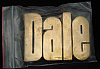 LF20110 *NOS* VINTAGE 1970s/80s CUT-OUT NAME ***DALE*** SOLID BRASS BUCKLE