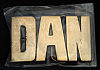 LF20111 *NOS* VINTAGE 1970s/80s CUT-OUT NAME ***DAN*** SOLID BRASS BUCKLE
