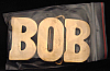 LF20112 *NOS* VINTAGE 1970s/80s CUT-OUT NAME ***BOB*** SOLID BRASS BUCKLE