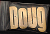 LF20114 *NOS* VINTAGE 1970s/80s CUT-OUT NAME ***DOUG*** SOLID BRASS BUCKLE