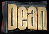 LF20115 *NOS* VINTAGE 1970s/80s CUT-OUT NAME ***DEAN*** SOLID BRASS BUCKLE