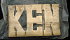 LF20116 *NOS* VINTAGE 1970s/80s CUT-OUT NAME ***KEN*** SOLID BRASS BUCKLE