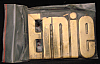 LF20124 *NOS* VINTAGE 1970s/80s CUT-OUT NAME ***ERNIE*** SOLID BRASS BUCKLE