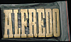LF20134 *NOS* VINTAGE 1970s/80s CUT-OUT NAME ***ALFREDO*** SOLID BRASS BUCKLE