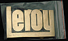 LF20137 *NOS* VINTAGE 1970s/80s CUT-OUT NAME ***LEROY*** SOLID BRASS BUCKLE